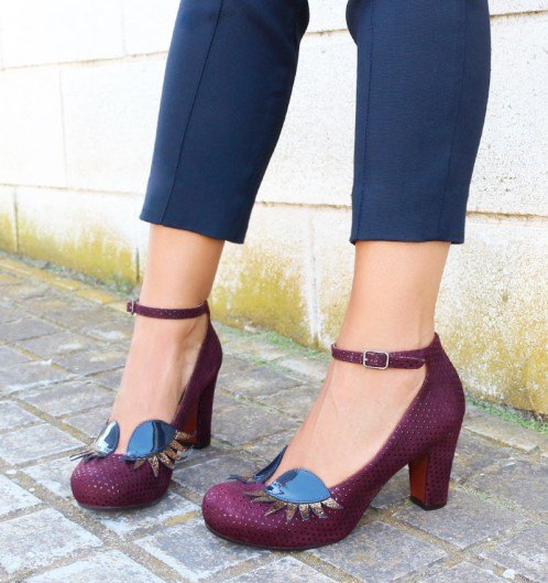 Chie Mihara Dubi Fall Winter collection 2017 2018 top 10 Geraldine wine suede eyelash shoe