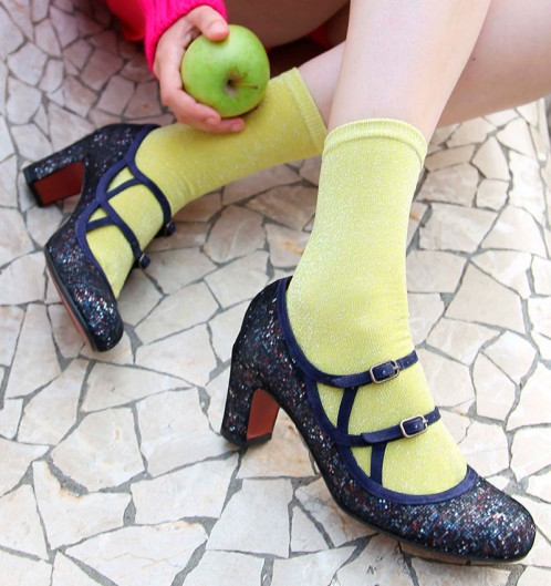 Chie Mihara Jamba Fall Winter collection 2017 2018 pixel leather suede retro vintage style shoe mary jane