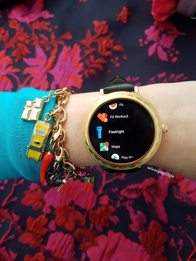 Winnipeg Style, Canadian Fashion blog, Stylist, Kate Spade scallop touchscreen smartwatch watch, wearable tech review, OS by Google, android wear