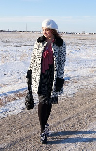 Everyday Outfit February 7, 2012, Topshop dalmation, Nygard, Fluevog Sweet Pea