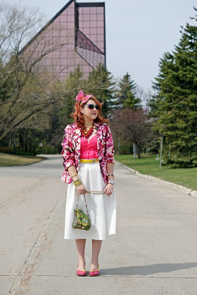 2ebc26bd Everyday Outfit for May 3, 2015, Kate Spade Millie Floral rose print silk  cotton
